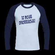 Shirts met lange mouwen ~ Mannen baseballshirt lange mouw ~ Longsleeve Opsokkebolje