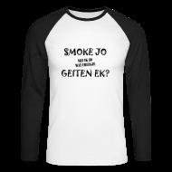 Shirts met lange mouwen ~ Mannen baseballshirt lange mouw ~ Longsleeve Smoke