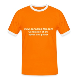 T-shirt Generation of art, speed and power orange - T-shirt contrasté Homme