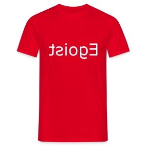 Roter Egoist - Männer T-Shirt