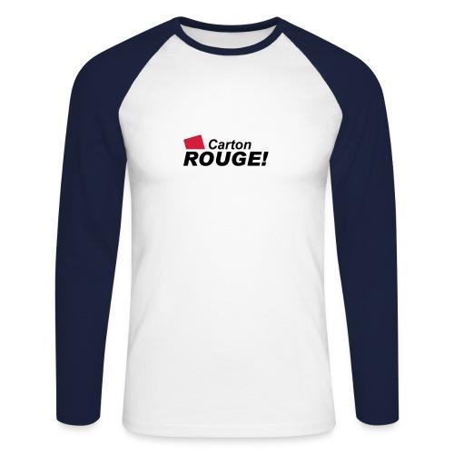 Carton rouge ML - T-shirt baseball manches longues Homme