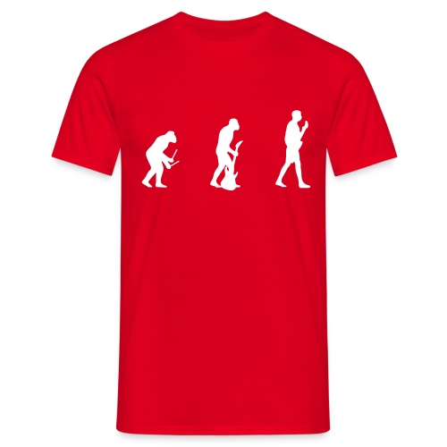 Evolution - red - Men's T-Shirt