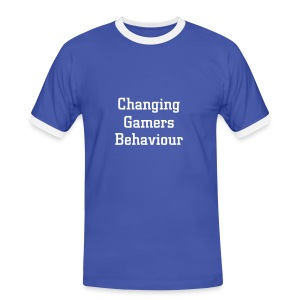 Changing Gamers Behaviour bleu-blanc - T-shirt contrasté Homme