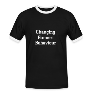 Changing Gamers Behaviour noir-blanc - T-shirt contrasté Homme