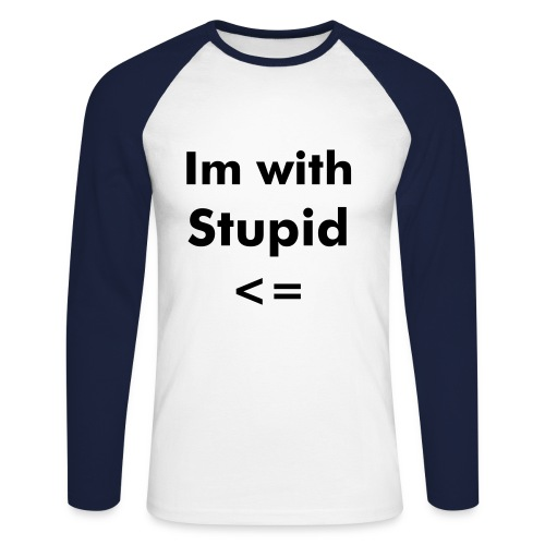 Sweat - I'm with stupid - T-shirt baseball manches longues Homme