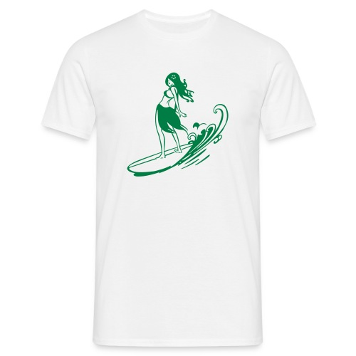 Aloha Sufer Girl - Men's T-Shirt