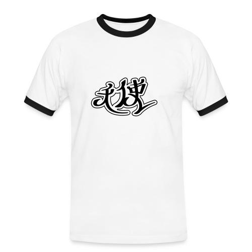 Shirt Chinese - Männer Kontrast-T-Shirt