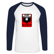 Long sleeve shirts ~ Men's Long Sleeve Baseball T-Shirt ~ Hairy Holidays gent's baseball jersey