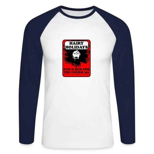 Hairy Holidays gent's baseball jersey - Men's Long Sleeve Baseball T-Shirt