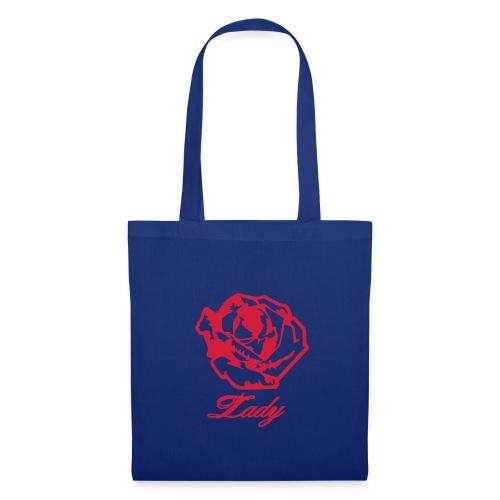Sac en tissu bleu - Lady - Tote Bag