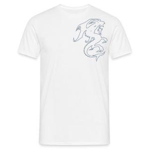 Hvit drage. - T-skjorte for menn