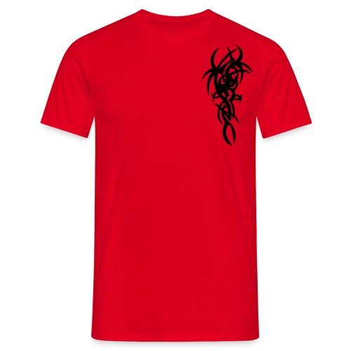 Rød fantasy. - T-skjorte for menn