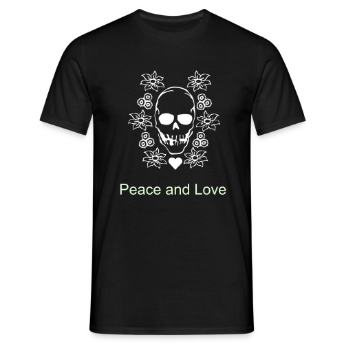 Peace & Love - Men's T-Shirt