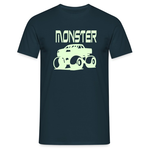 Glo-in-the-dark Monster - Men's T-Shirt