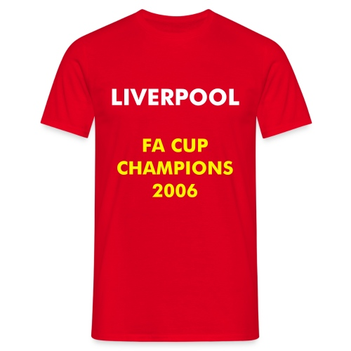 Liverpool - FA Cup - T-skjorte for menn