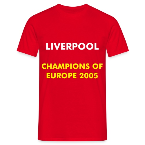 Liverpool - Champions of Europe - T-skjorte for menn