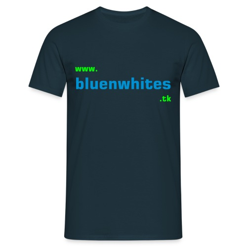 bluenwhites.tk Logo Tee - Men's T-Shirt