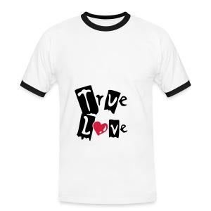 liefdes shirt - Mannen contrastshirt