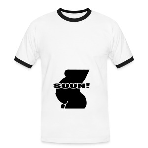 zwangerschaps shirt - Mannen contrastshirt