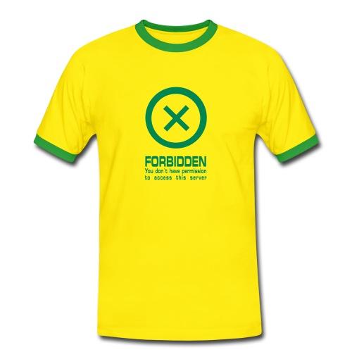 Koszulka męska 403 Forbidden - Koszulka męska z kontrastowymi wstawkami