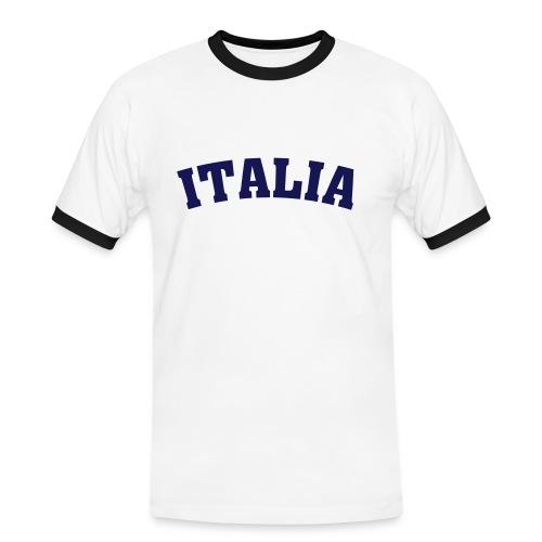 Koszulka męska Italia - Koszulka męska z kontrastowymi wstawkami