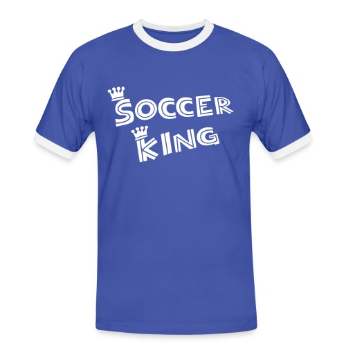 Soccer king - Kontrast-T-skjorte for menn