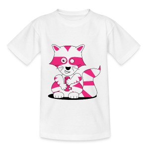 racoon kids - front - Teenager T-Shirt