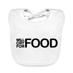 Cry for Food Bib Unisex - Baby Organic Bib