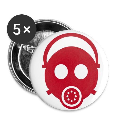 masque a gaz - Lot de 5 grands badges (56 mm)