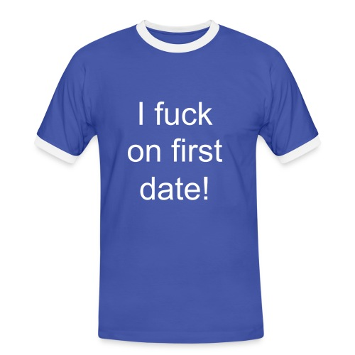 First date lover! - Männer Kontrast-T-Shirt