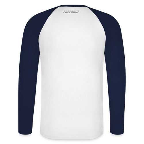 Silver 'n' Charcoal 00 Sport-T - Men's Long Sleeve Baseball T-Shirt