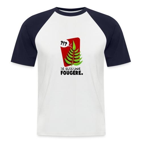 Je suis une Fougère T-H - T-shirt baseball manches courtes Homme
