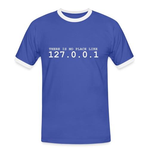 127.0.0.1 - Männer Kontrast-T-Shirt