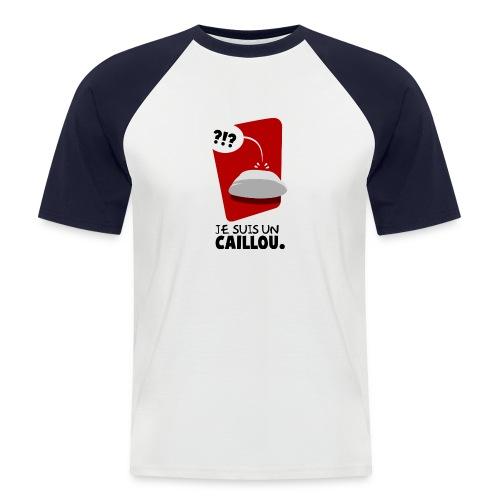 Je suis un caillou T-H - T-shirt baseball manches courtes Homme