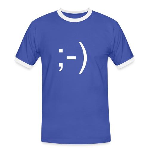 Smile T-Shirt - Männer Kontrast-T-Shirt