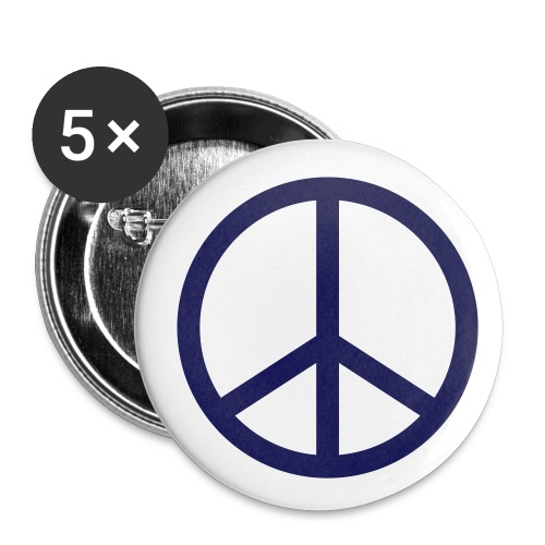 Przypinki - 5 szt. (śr. 32mm) Peace - Przypinka średnia 32 mm (pakiet 5 szt.)