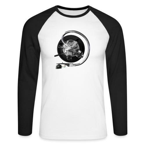 *SL1200 on white/black Promodoro Raglan Longsleeve - Mannen baseballshirt lange mouw