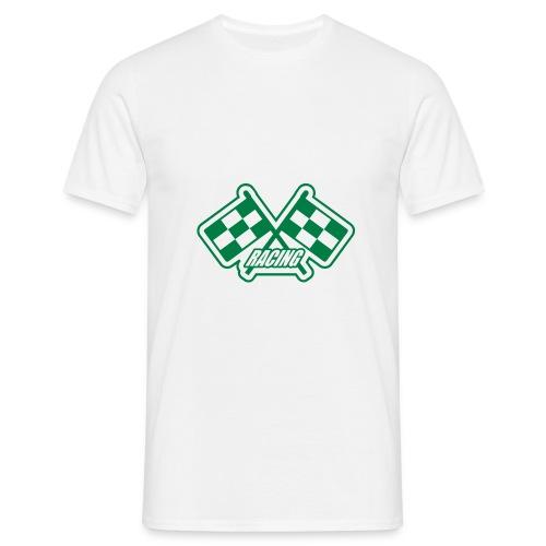racing-hotcar-valkoinen - Miesten t-paita