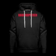 Pullover & Hoodies ~ Männer Premium Kapuzenpullover ~ Raubkopierer - Kapuzen-Shirt schwarz