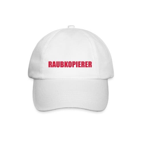 Raubkopierer - Cap weiß - Baseballkappe