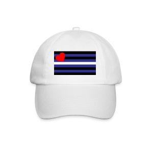 Gay baseball Cap Leather pride (wht) - gay Geschenk - Baseball Cap