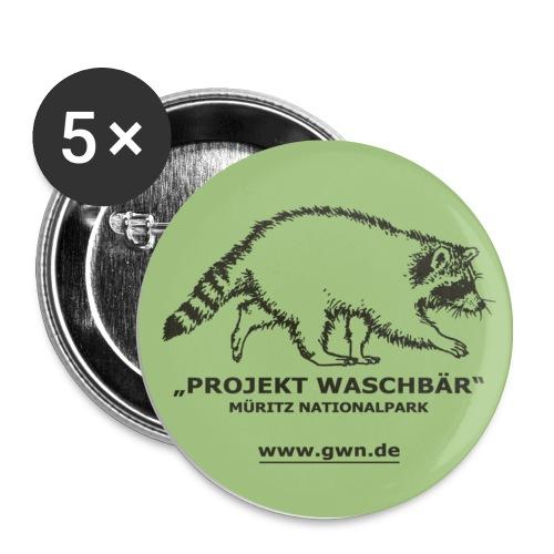 Sticker Waschbär - Buttons mittel 32 mm (5er Pack)