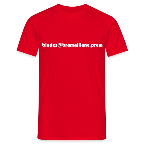 Blades Email - Red - Men's T-Shirt