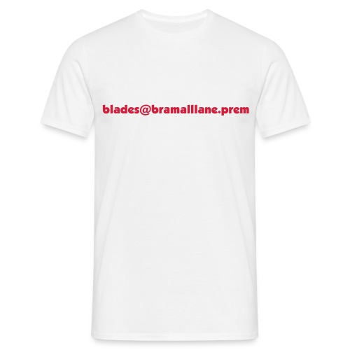Blades Email - White - Men's T-Shirt