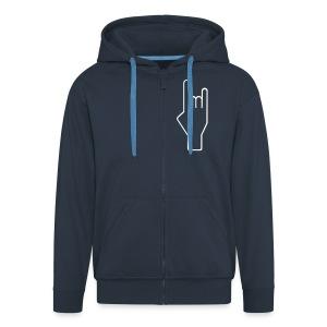 Bluza - Rozpinana bluza męska z kapturem Premium