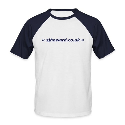 White and Navy T-Shirt - Men's Baseball T-Shirt