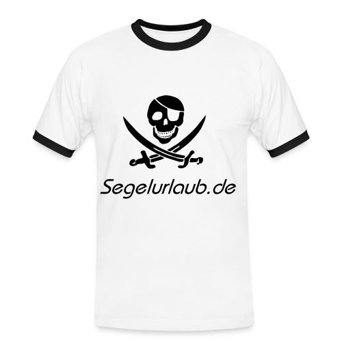 piraten shirt - pirat fuer karibik urlaub der hoffentlich kein fluch wird ;-) - Männer Kontrast-T-Shirt