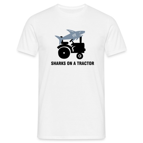 Sharks On A Tractor - Men's T-Shirt