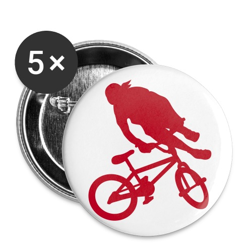 5 Badge BMX - Lot de 5 grands badges (56 mm)
