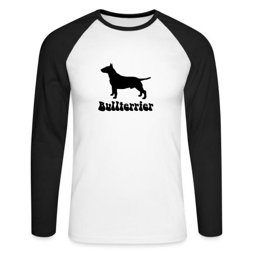 Bullterrier - Männer Baseballshirt langarm